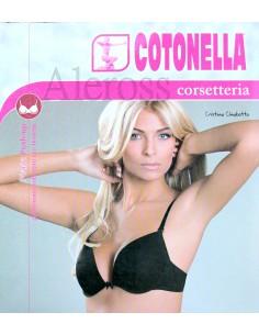 Reggiseno Donna Cotonella coppa Preformata con ferretto Misura 4 Bianco CD005