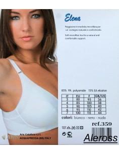Soutien-gorge Femme Valentina Aris 4-5 Coupe C Blanc microfibre et dentelle gorge