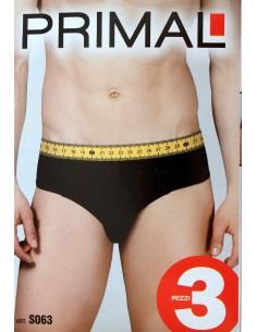 3 slip Uomo Primal elasticizzati elastico a vista stampato Taglia 6/XL/52 S063