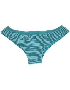 Slip Brasiliano Donna Jadea misura 3/M cotone elasticizzato Colore Turchese 6510