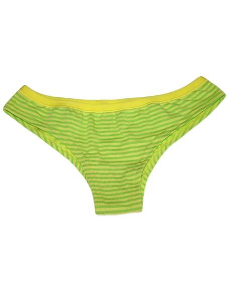 Slip Brasiliano Donna Jadea misura 3/M cotone elasticizzato Colore Verde 6510
