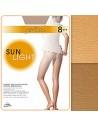 Collant Donna OMSA SUNLIGHT 8 Den velatissimo effetto abbronzato Beige Sierra