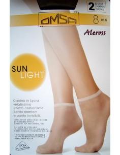 Femme OMSA Collants SUNLIGHT 8 Den effet Ultra tan pur Beige Sierra