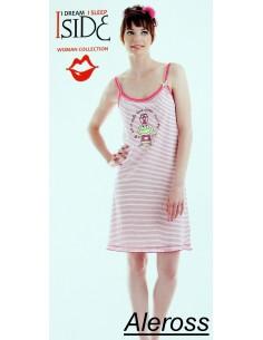 OFFRE taille des femmes robe de maison en coton chemise de nuit M céleste 80104