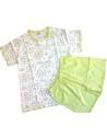 Pigiama corto Donna Baci di Notte puro cotone Misura L/46 colore Verde 80236