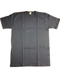 T-Shirt Maglia intima Uomo Girocollo Mezza manica BLU 4-5-6-7 Puro Cotone 2065