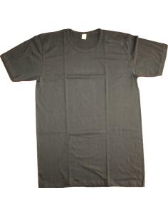 T-Shirt Maglia intima Uomo Girocollo Mezza manica NERO 4-5-6-7 Puro Cotone 2065