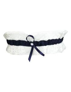 Giarrettiera Donna SPOSA colori Bianco Avorio con fiocco in raso e pizzo