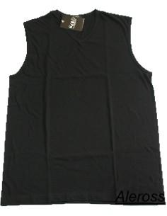 T-shirt Uomo Spalla Larga  Solo Soprani Scollo V cotone Tg 5/M Nero IBIZA