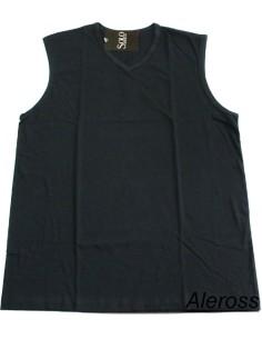 T-shirt d'épaule Solo Soprani Larga Seulement coton col V Tailles M Noir IBIZA