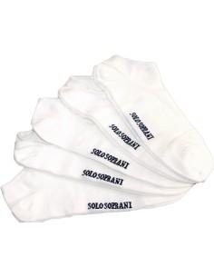 5 Paia Calze corte-fantasmini-pari scarpa Uomo/Donna Solo Soprani Bianco U016