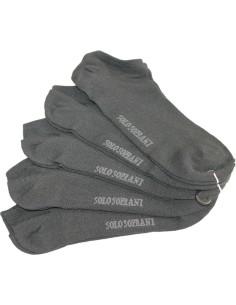 5 Paia Calze corte-fantasmini-pari scarpa Uomo/Donna Solo Soprani Nero U016