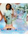 Camicia da notte Bimba cotone manica corta 2/3-4/5-6/7 anni Mermaid Melody 2390