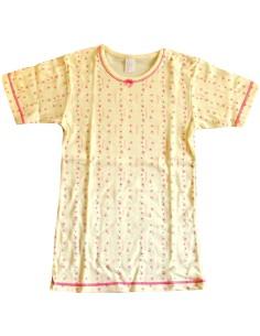 Maglia intima Bimba Garda puro cotone felpato misura 7/8 anni colore giallo 7041