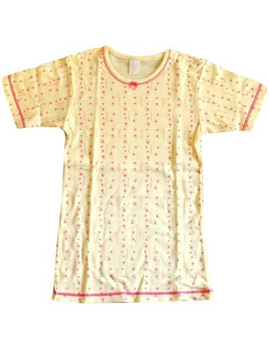 Maglia intima Bimba Garda puro cotone felpato misura 7/8 anni colore bianco 7041