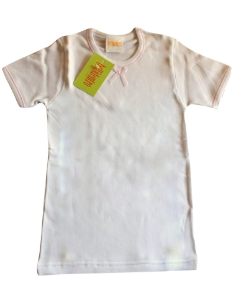 Maglia intima Bimba Bellidentro cotone felpato misura 2/3 anni Bianco 2917