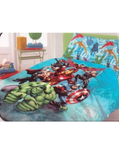 Completo lenzuola Avengers Marvel Originale Novia cotone 1 piazza singolo