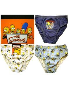 Coordinato Bimbo The Simpsons Bart cotone Misura 7/8 anni Bianco S452