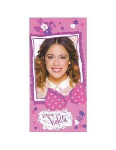Telo mare Bimba Ragazza in spugna Disney Violetta misure 76X152 colore rosa