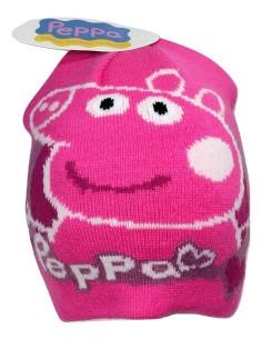 Cappello berretto cuffia Bimba in Pile Originale PEPPA PIG misura unica fuxia