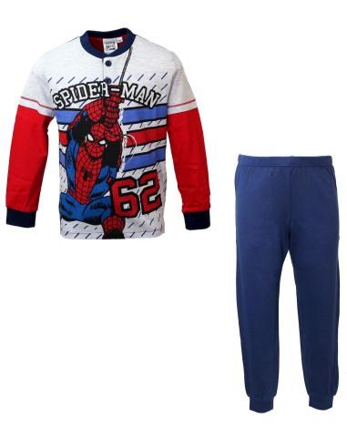 più economico 9cbbd 76e3d Pigiama Bimbo Anni cotone manica lunga Spider man uomo ragno 16094