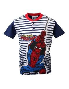 Pigiama Bimbo Spiderman Uomo Ragno Mezza Manica 3-4-5-6-7 Anni Puro Cotone 16099