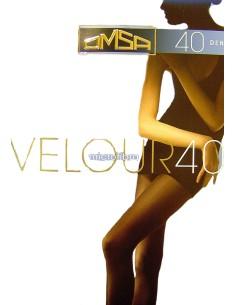 Collant coprente Donna OMSA in Microfibra 40 Den Nero Moro Antracite Velouur40
