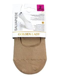 4 Paia Salva piede Donna Golden Lady Cotone elasticizzato Nudo 6NBP