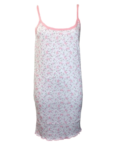 Camicia da notte Donna ISIDE Spalla Stretta Misure M-L-XL-XXL rosa 80128