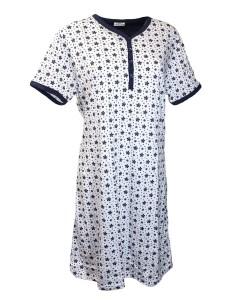 Camicia da notte DONNA Buccia di mela  Mezza manica Misure comode calibrate10995
