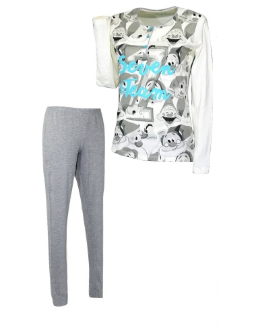 Girls Girl Disney Cotton Cotton Pajamas Panna 22895