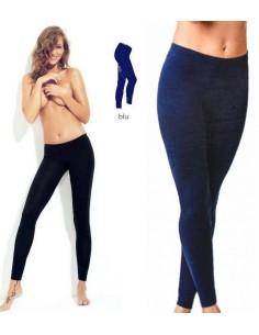 Leggings Fuseaux Donna Pantacollant Jadea Cotone elastico S/M-M/L-L/XL Blu 4265
