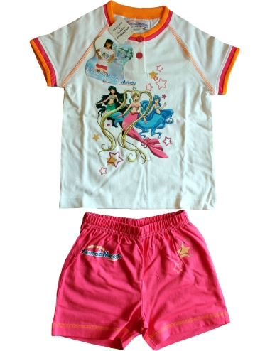 OFFRE Pyjama Girls 2 / 3-4 / 5-6 / 7 ans manches longues en coton Mermaid Melody 2389