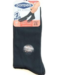 4 Pairs of men's short socks Pompea Piquet Gray in microfibre