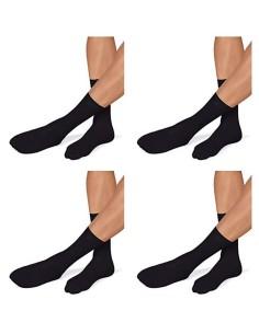 4 Paia di calze corte Uomo Pompea Piquet Nero 39/42-43/46 in microfibra