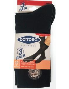 OFFERTA 3 PAIA calze lunghe uomo Pompea Microfibra Taglie 39/42-43/46 BLU 064